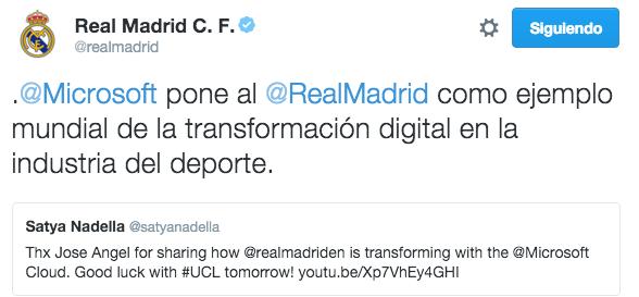 Real Madrid ejemplo de Transformación Digital