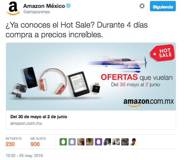 Tuit Más RT's de HotSale 2016